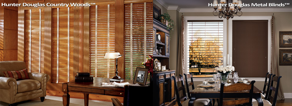 We are a Hunter Douglas Gallery Dealer