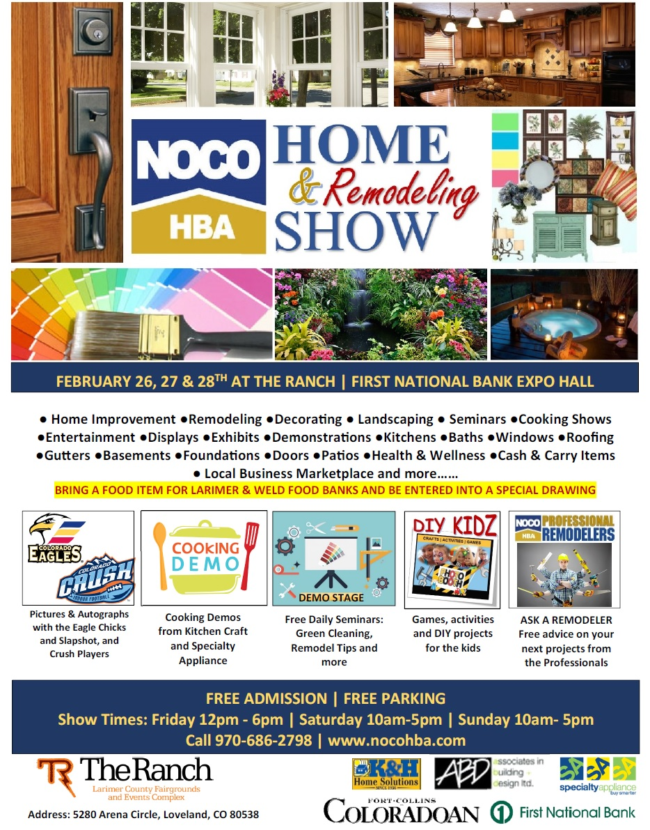 Find Us At The 2017 Noco Home Amp Remodel Show Amp You Could